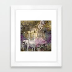 The life of a girl in the circus. Framed Art Print