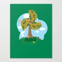 Fan Tree Canvas Print