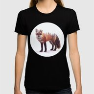 Fox Womens Fitted Tee Black SMALL