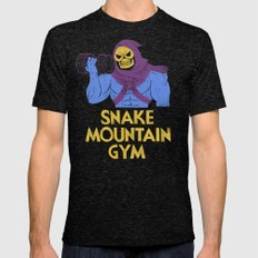 snake mountain gym Mens Fitted Tee Tri-Black SMALL