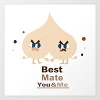 Best Mate -you And Me Art Print