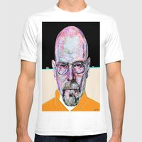 Walter White Breaking Ba… Mens Fitted Tee White SMALL