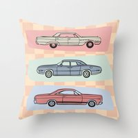 Motor Style Inc.: 60s Am… Throw Pillow