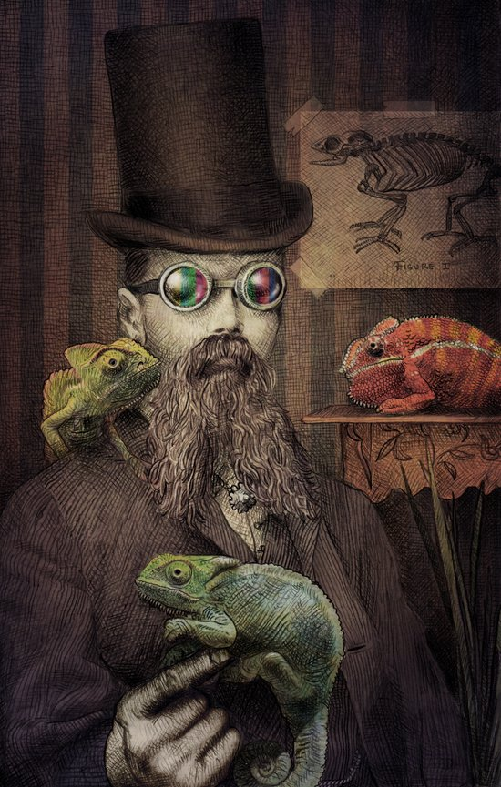 The Chameleon Collector Canvas Print
