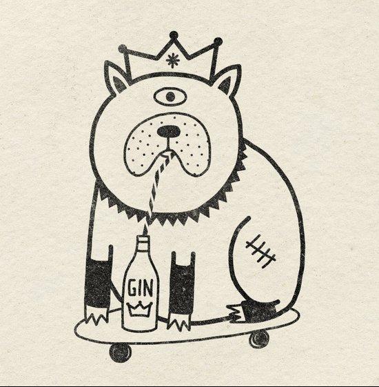 My Dog Loves Gin No.2 Art Print