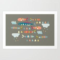 Fish Clouds Art Print