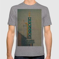Bowling  Mens Fitted Tee Athletic Grey SMALL