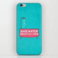 Save Water Shower With A… iPhone & iPod Skin