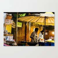 Street Food Canvas Print