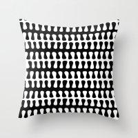 Seaweed Strand black & white Throw Pillow