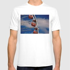 The Wheel SMALL White Mens Fitted Tee