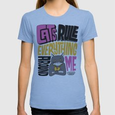 C.R.E.A.M. Cats Rule Everything Around Me Womens Fitted Tee Athletic Blue SMALL