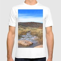 Sand Creek Mens Fitted Tee White SMALL