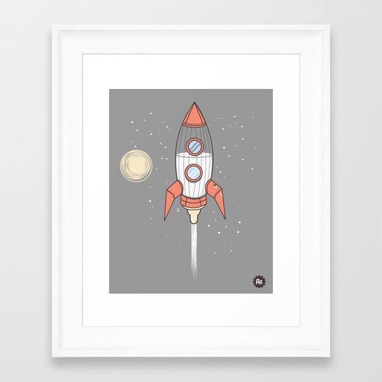 Bottle Rocket Framed Art Print