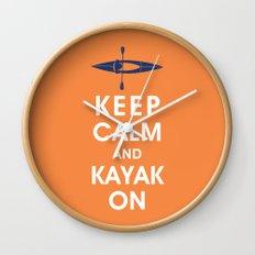 Keep Calm and Kayak On Wall Clock