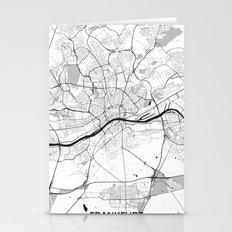 Frankfurt City Map Gray Stationery Cards