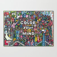 color your mind by Astorg Audrey Canvas Print