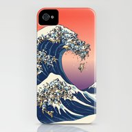 The Great Wave Of Pug   iPhone (4, 4s) Slim Case