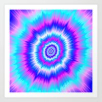Boom in Blue and Pink Art Print