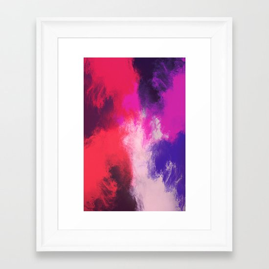 Painted Clouds Framed Art Print
