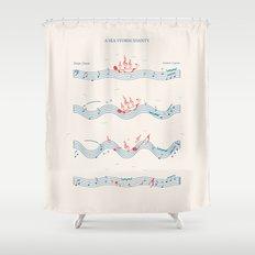 Nautical Notation Shower Curtain