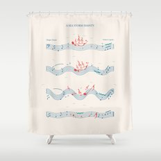 Nautical Notation Shower Curtain