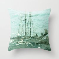 So We Beat On, Boats Aga… Throw Pillow