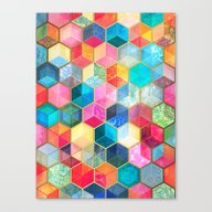 Crystal Bohemian Honeyco… Canvas Print