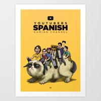 Youtubers Spanish | Gami… Art Print