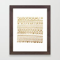 Fun (gold version) Framed Art Print