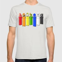 Drainbow Mens Fitted Tee Silver SMALL