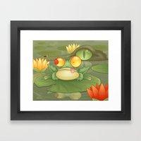 Swamp Snack Framed Art Print