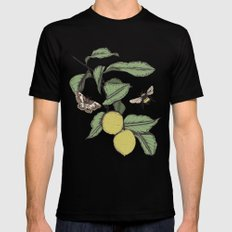 Lemons in Spring Mens Fitted Tee SMALL Black