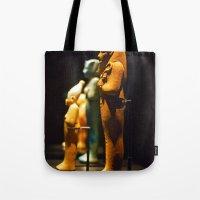 Egyptian Statuettes Tote Bag