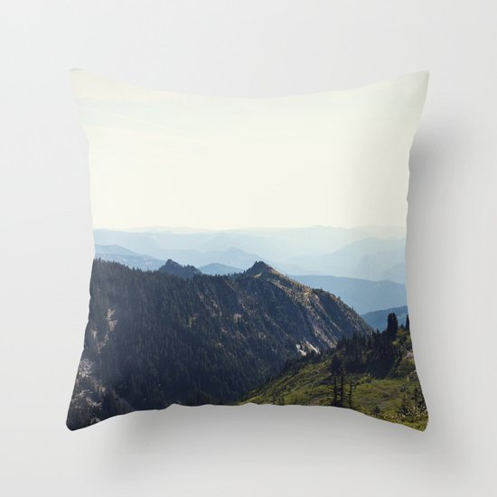 Sunny Mountain Throw Pillow