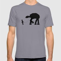 A Boy and His AT-AT Mens Fitted Tee Slate SMALL