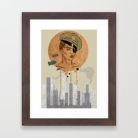 The Steam Captain  Framed Art Print