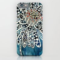 iPhone Cases featuring Flower Paintings: Lace Flower by Luella Spark