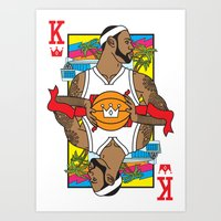 King Of South Beach Art Print