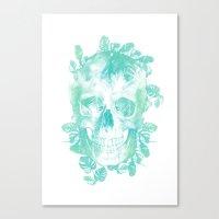 Tropical Skull Canvas Print