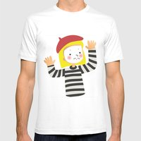 Le Mime Mens Fitted Tee White SMALL