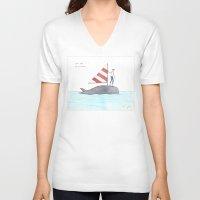 Set Sail On A Whale Unisex V-Neck
