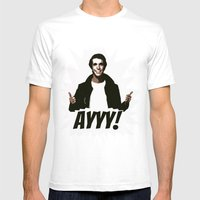 HAPPY DAYS     FONZIE   … Mens Fitted Tee White SMALL