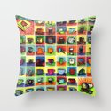 The Daily Coffee Poster Throw Pillow