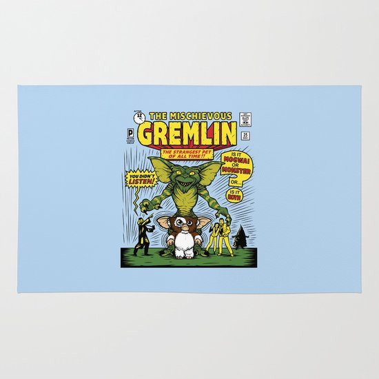 The Mischievous Gremlin Area & Throw Rug