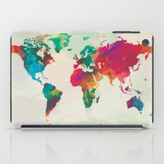 Watercolor World Map iPad Case