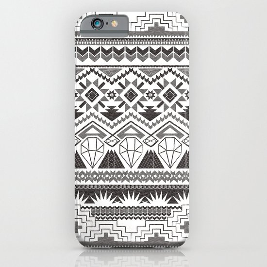 CRYSTAL AZTEC B/W  iPhone & iPod Case