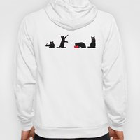 Cats Black on White Hoody