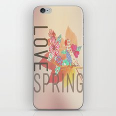 LOVE SPRING iPhone & iPod Skin