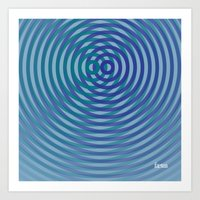 SoundWaves Teal/Indigo Art Print